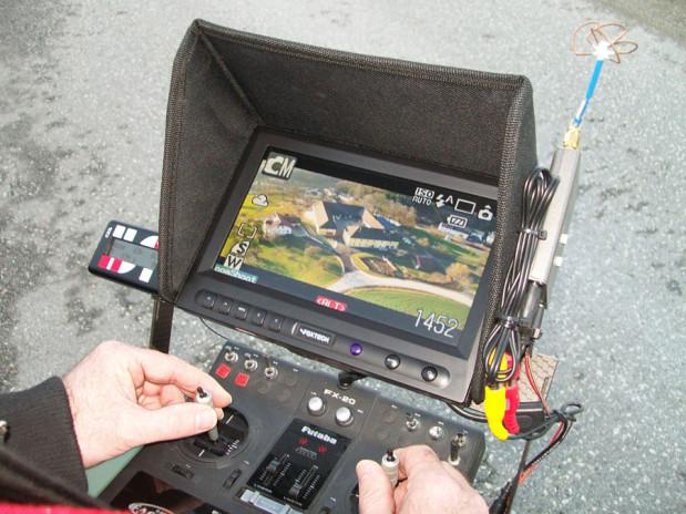 Die Steuerung der fliegenden Kamera