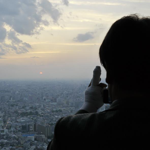 Sonnenuntergang fotografierende Hobbyfotografen