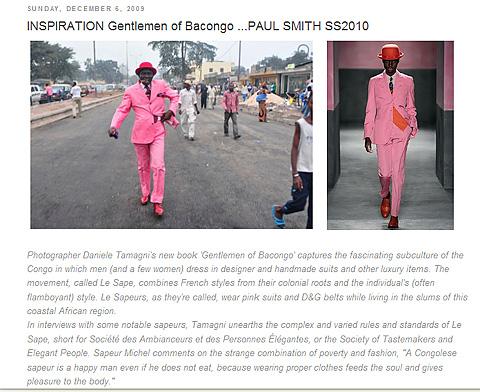 Screenshot, Meldung vom 6. Dezember 2009 auf Into the Fashion